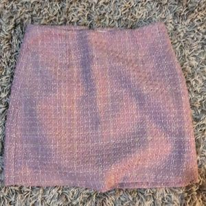 pink tweed mini skirt 💕